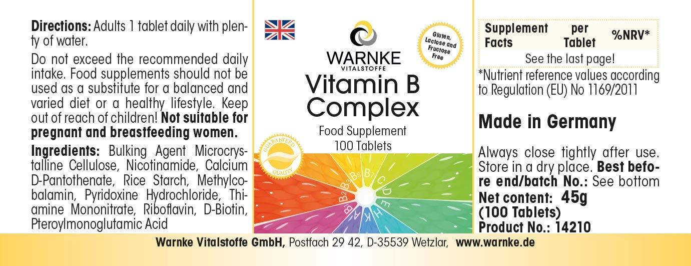 Vitamina B Complex - Vegetariano - 100 cápsulas - Con todas las ...