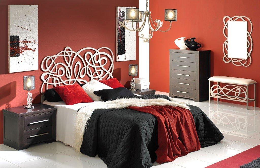 Cabecero de Forja JEREZ para colchón de 140 cm, color blanco mate: Amazon.es: Hogar
