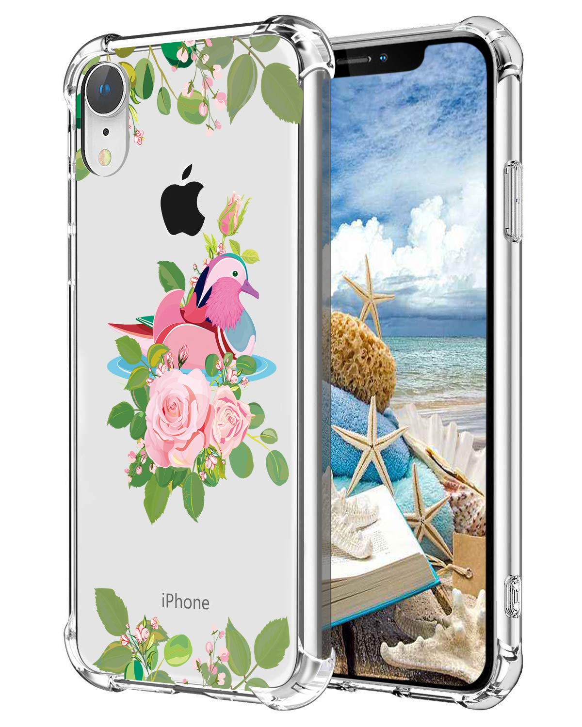 size 40 4edc0 1deaf Hepix Flowers iPhone XR Case Clear Xr Phone Cases with Birds, Protective  Slim Flexible Soft TPU Xr Phone Cover with Reinforced Bumpers Anti-Scratch  ...