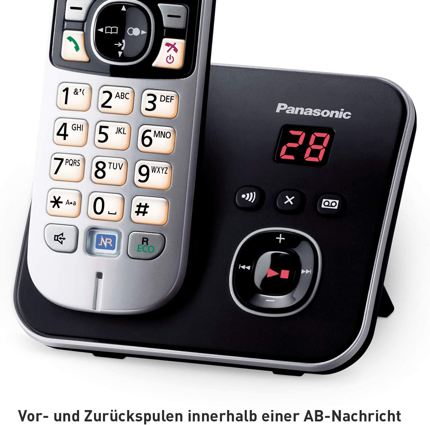 Panasonic Kx Tg6823gb Dect Schnurlostelefon Mit Elektronik