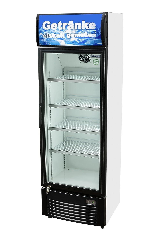 Werbe-Kühlschrank mit Leuchthaube 192 x 62 x 59,5 cm ...