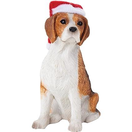 sandicast beagle with santa hat christmas ornament - Christmas Beagle