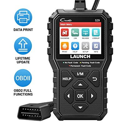 LAUNCH OBD2 Scanner Code Reader CR529 Enhanced Universal Automotive Scan Tool with Full OBDII Function, Turn Off Check Engine Light, Pass Emission Test, Advanced Version of 319: Automotive