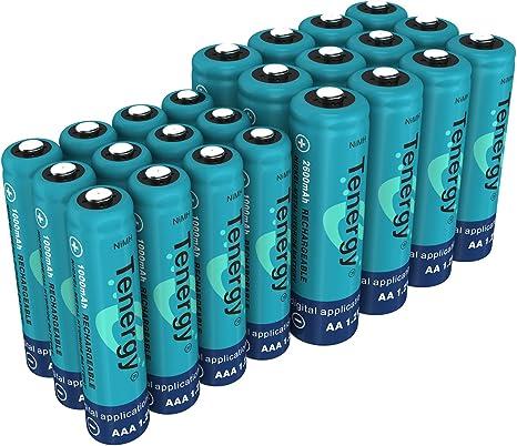 Amazon.com: Tenergy - Batería AA y AAA de alto drenaje, 1,2 ...