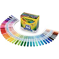 Crayola Ultra Clean Washable Broad Line Markers, 40 Classic Colors, Kids Indoor Activities At Home