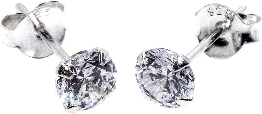 Arranview Jewellery - Pendientes de plata con circonita con cierre ...