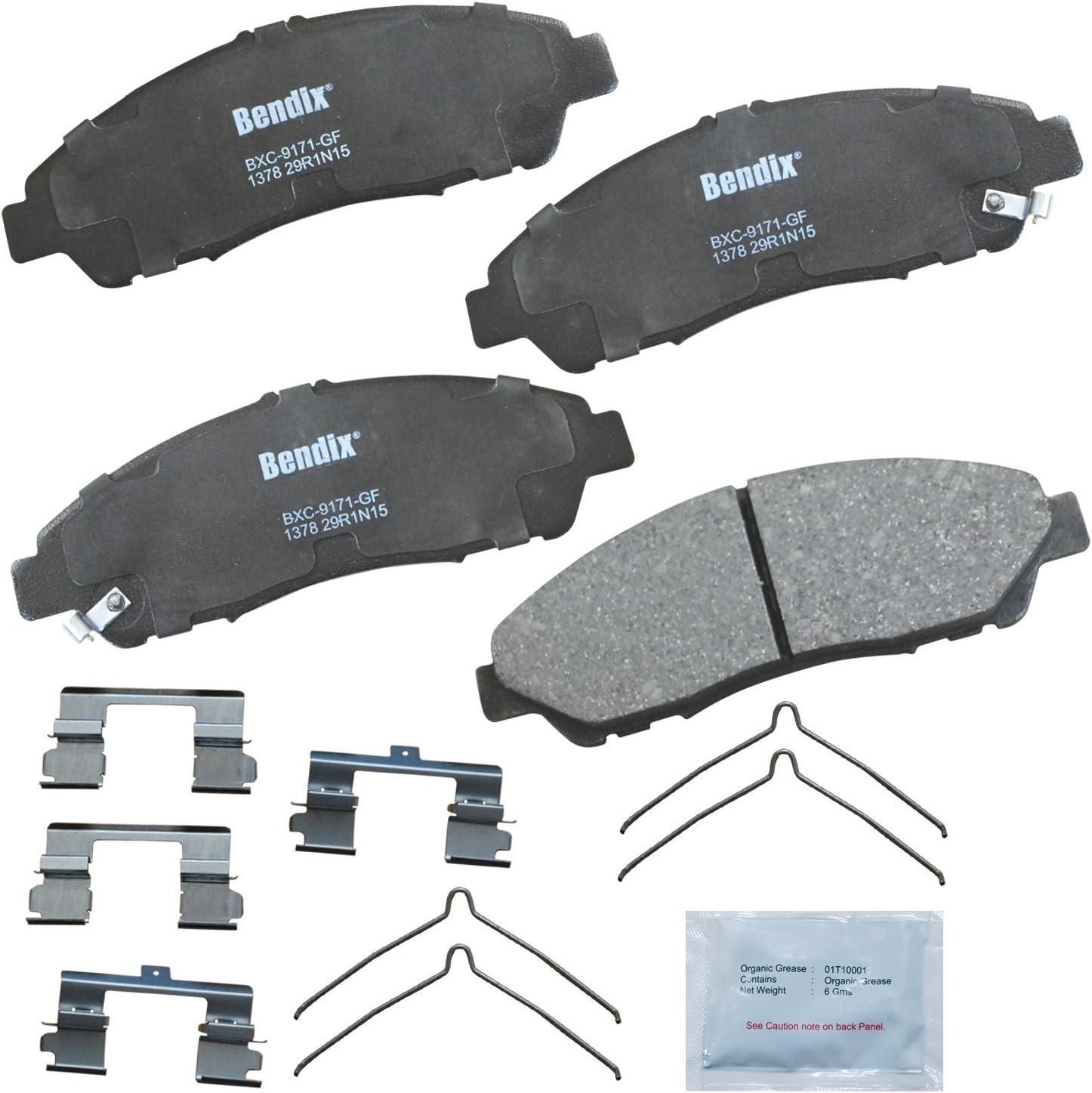 Bendix Premium Copper Free CFC1281 Rear Disc Brake Pad Set For Acuta MDX Models