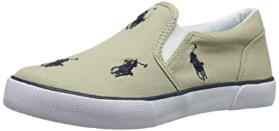 c072e2ebd Polo Ralph Lauren Kids Bal Harbour Repeat Slip-On Sneaker (Toddler Little  Kid