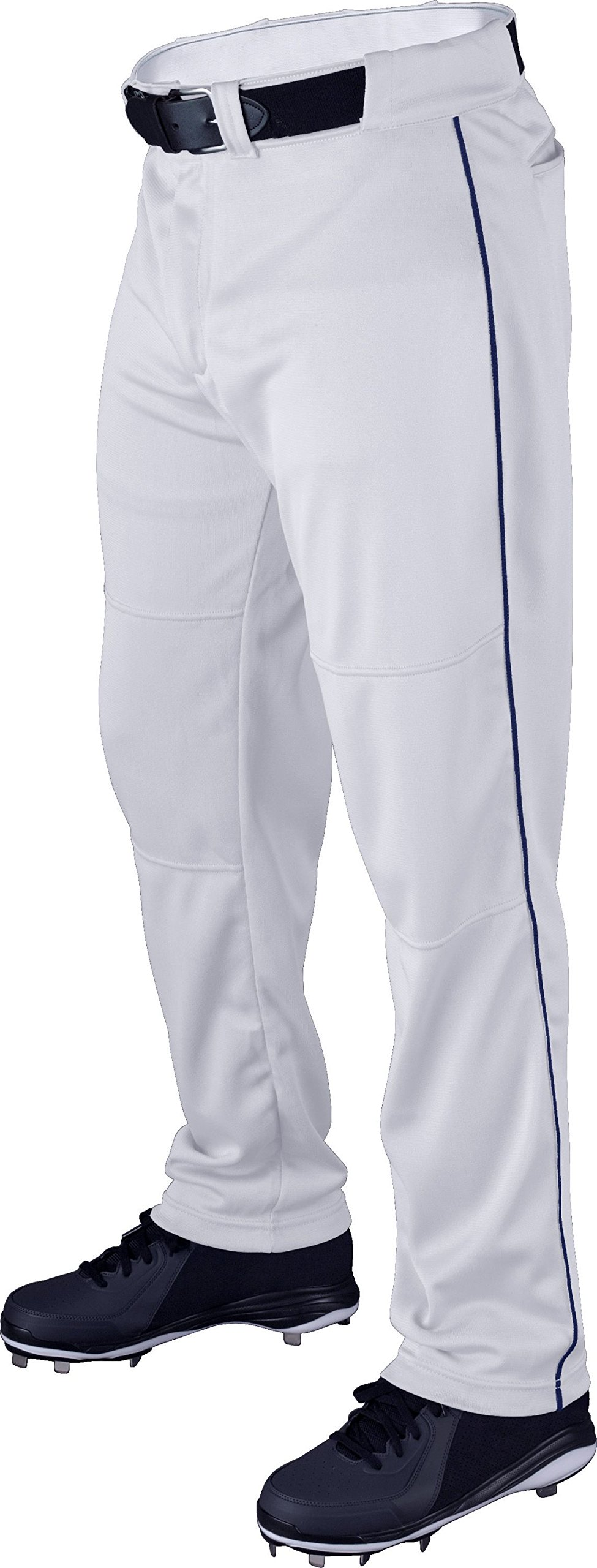 Wilson Youth Classic Relaxed Fit Piped Baseball Pant, White/Royal, Medium by Wilson