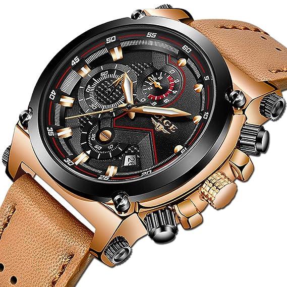 ad1e4d49e095 Relojes Hombre Relojes de Pulsera Marea Cronometro Impermeable Fecha  Calendario Analogicos Cuarzo Relojes de Hombre Deportivo Casual Clásicos  Multifunción ...