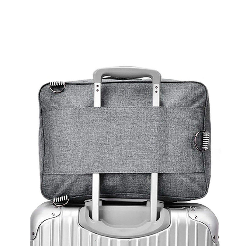 Cuuker Travel Duffel Bag Backpack Lightweight Waterproof Large Capacity Portable Luggage Bag (Black)