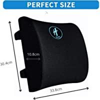 Hasht Premium Lumbar Back Support Pillow,100% Pure Memory Foam Seat Cushion For Back & sciatica Pain Relief, Ideal…