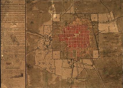 Mexico Map 1794.Amazon Com 1794 Map Of Mexico City Mexico Plano Ichnographico De