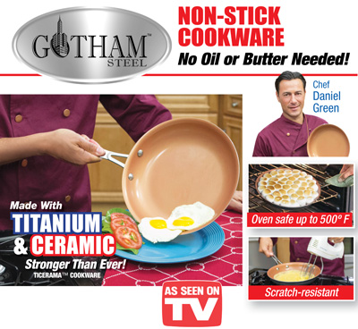Gotham Steel Non-stick Deluxe Frying Pan from Collections Etc.