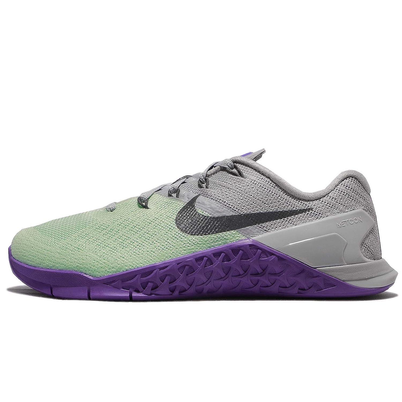 nike women's metcon 3 scarpa, verde e grigio artico