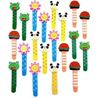 JZK 20 Wood Bookmark Page Clip Animal Book Marker for Kids Party Favours Children Party Bag fillers Birthday Gift…