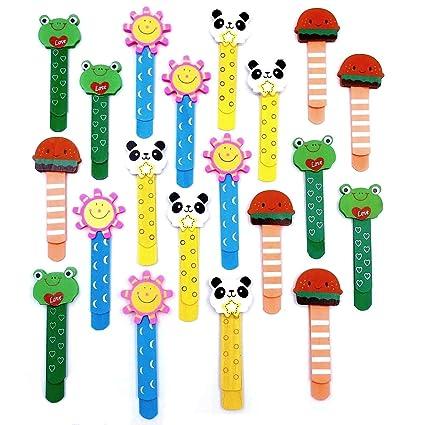 JZK 20 Madera marcapáginas página clip animal marcapáginas marcador libro para niños favores partido fiesta niños rellenos bolsas regalo cumpleaños ...