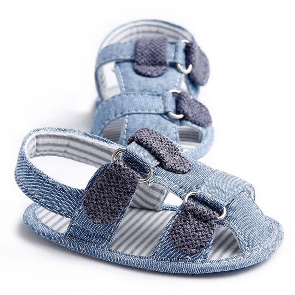 Voberry Baby boy Girl Soft Soled Crib Shoes Toddler Summer Denim Sandals