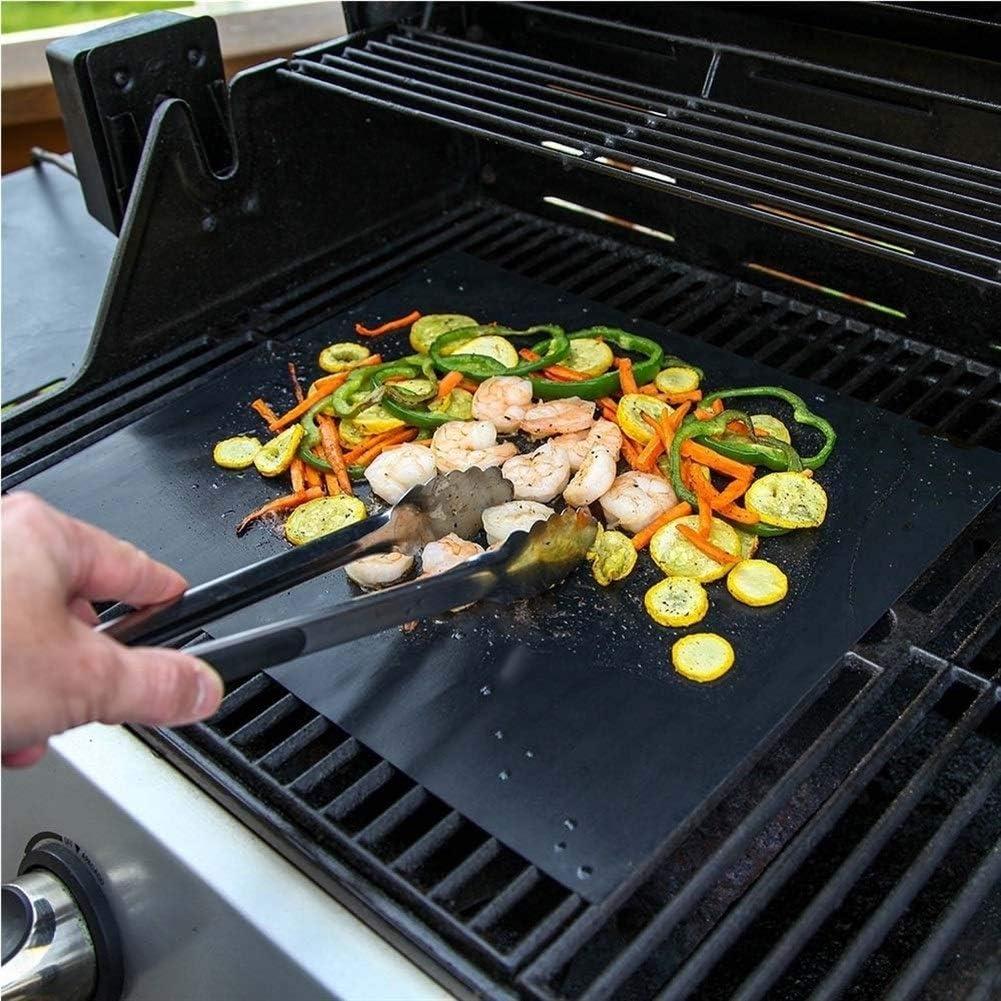 JYWJDH 10pcs 40 * 33cm antiadhésif BBQ Grill Mat Cuisson Mat Faire Cuire Résistance à la Chaleur Feuille Griller Facile à Nettoyer réutilisable Outil de Cuisine (Color : 3PCS) 3pcs