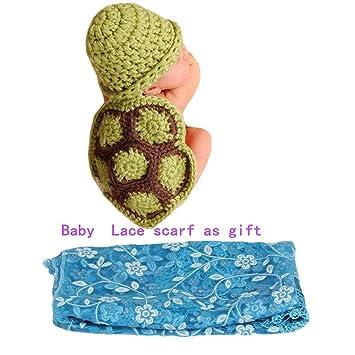 70d9dd83e Feng Cute Baby Infant Tortoise Newborn Turtle Costume Photo Photography  Prop 0-6 mon