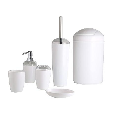 Baño 6 Piezas - Vaso para cepillos de dientes y dispensador ...
