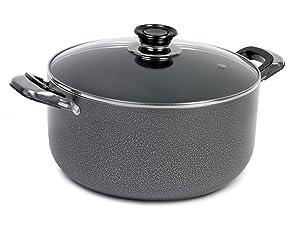 IMUSA USA TAD91622 Hammered Dutch Oven, 4.8 quart, Grey