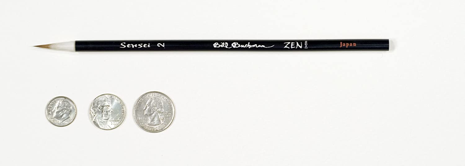 Japan Sable//Goat Bill Buchman Zen Sumi Brush Extra Fine Sensei 2
