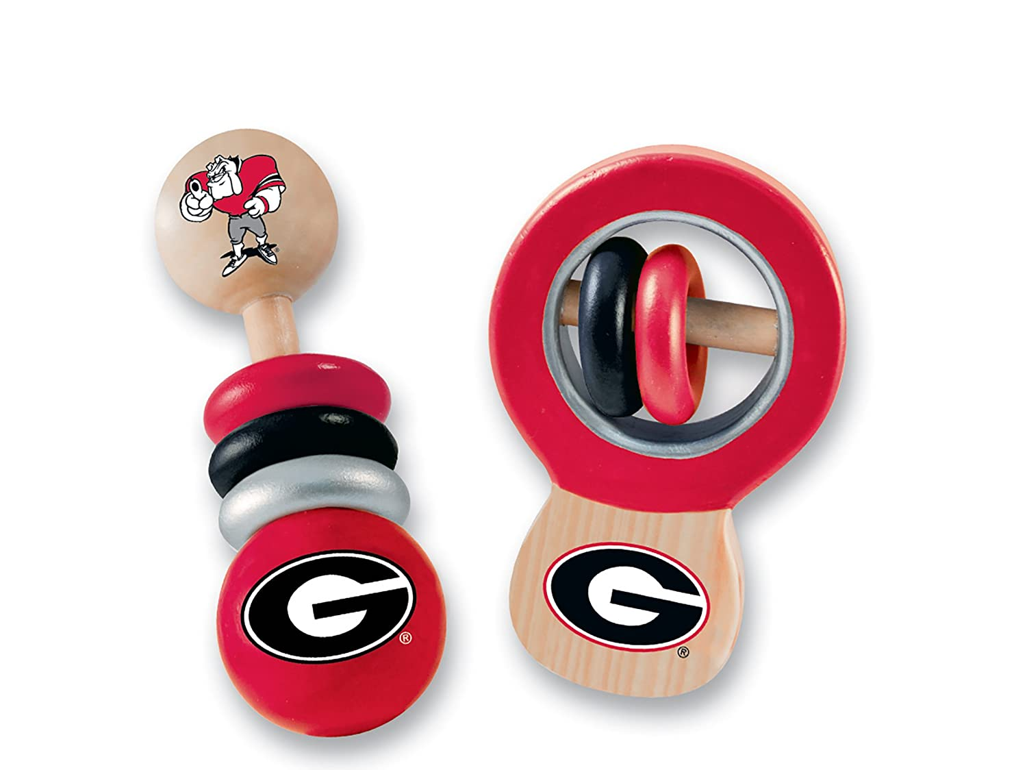 MasterPieces NCAA Real Wood Baby Rattles 2-Pack