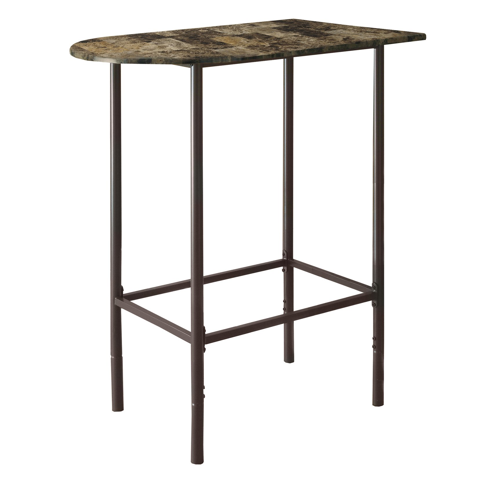Monarch Specialties Metal Space Saver Bar, 24-Inch by 36-Inch, Cappuccino/Marble/Coffee