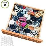 Evelots Drawer Organizer-Divider-Sock-Belt-Scarf-Underwear-56 Slots Total-Set/2