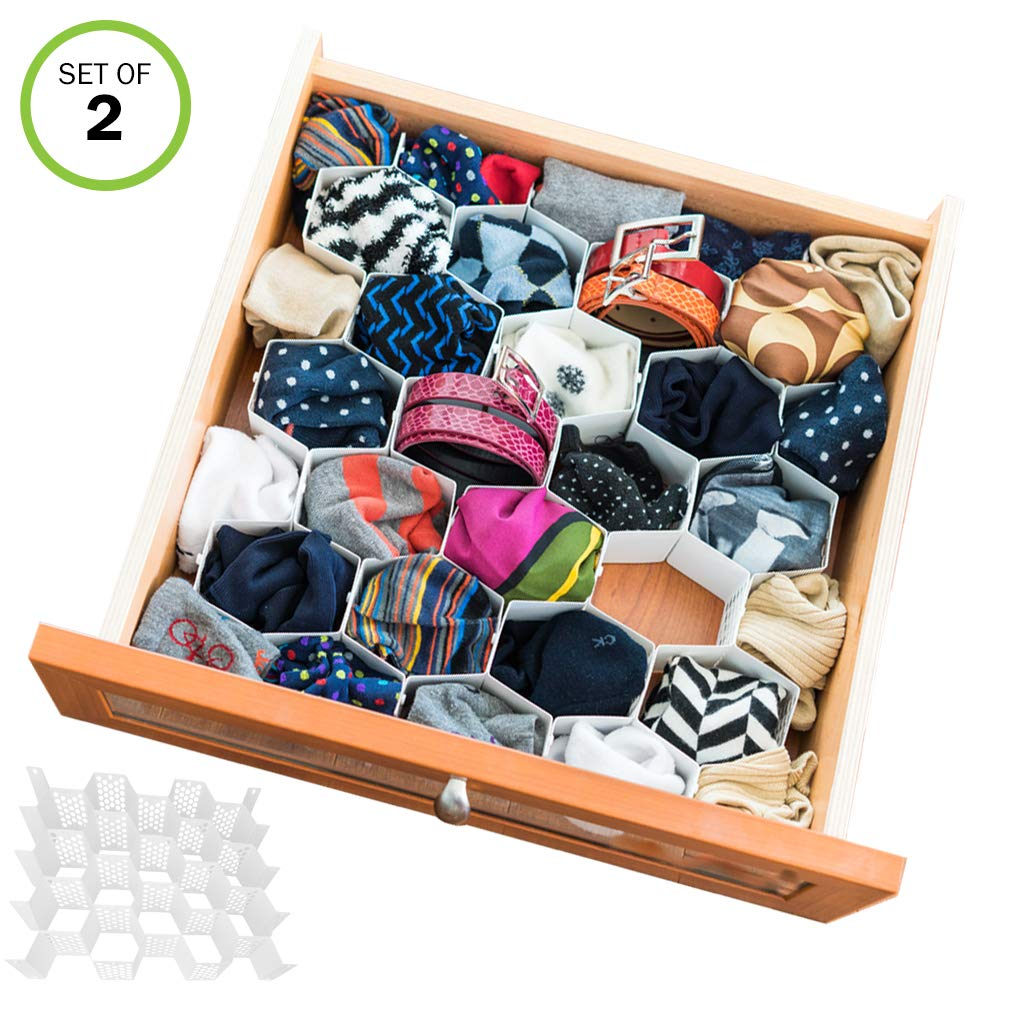 Honeycomb Closet Drawer Organizer for Socks and Underwear