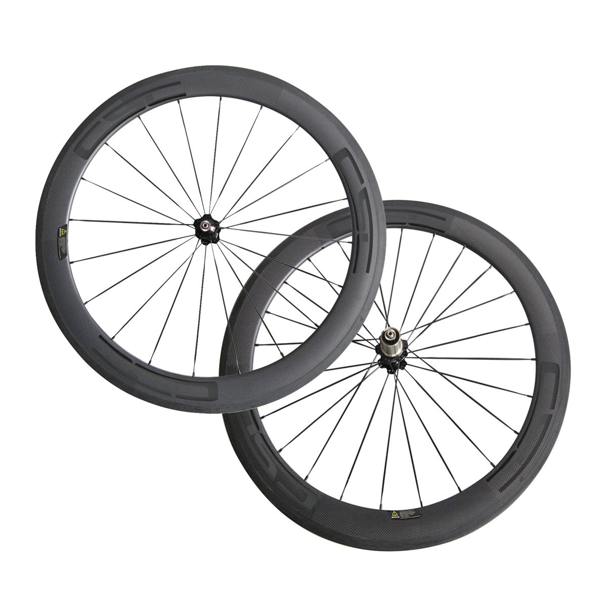 Amazon com cscbike 700c 60mm 20 5mm 23mm 25mm width decals bike wheels clincher bicycle wheelset sports outdoors