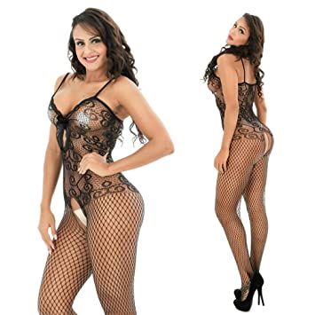 616efb6571 Mesh Lingerie for Women Sexy Franterd Bodystockings Bodycon Seductive Open  Crotch Fishnet Bikini Underwear Bodysuit Pajama