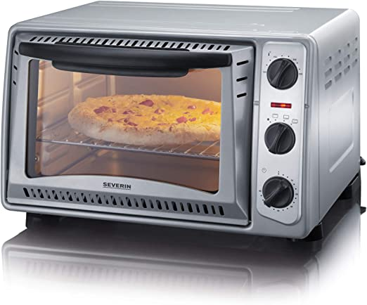 Severin TO 2045 Horno para pizza, 1500 W, 20 litros, Metal, Gris ...