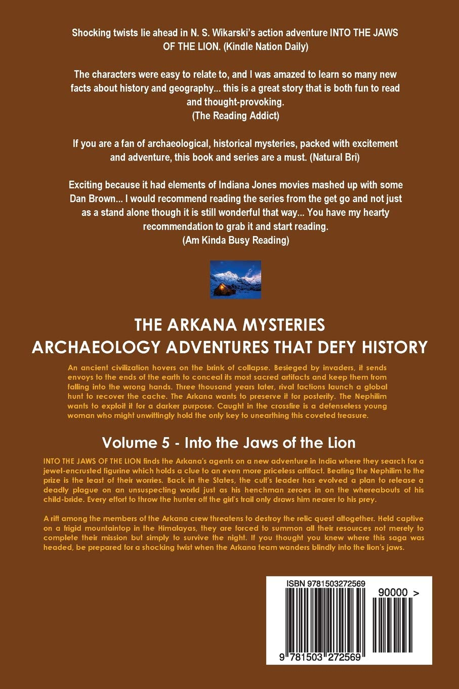 Amazon com: Into the Jaws of the Lion: Arkana Archaeology Mystery