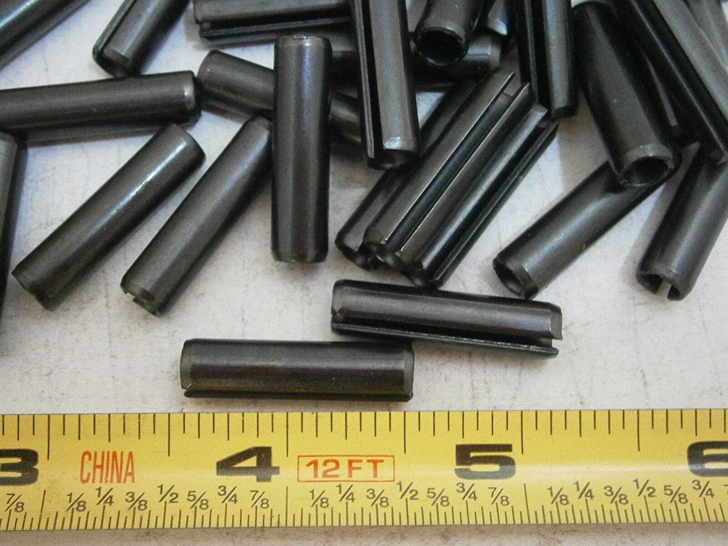 Spring Pins 1//4 OD x 1 Long Alloy Steel Lot of 25#4298 Roll Pins