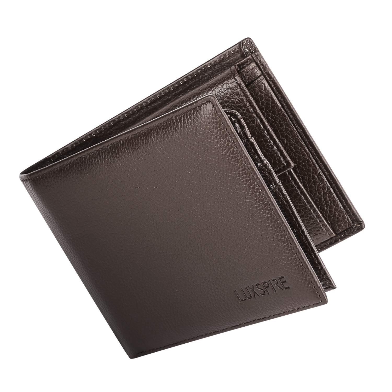 Luxspire RFID Carteras para Hombre Bifold Monederode Piel ...