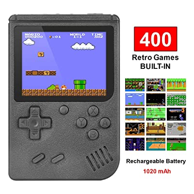 Handheld Game Console, Retro Game Console with 400 Classic Games 3.0 inch Screen Rechargeable Portable Game Console, Good Gifts for Parents(Black) …: Toys & Games