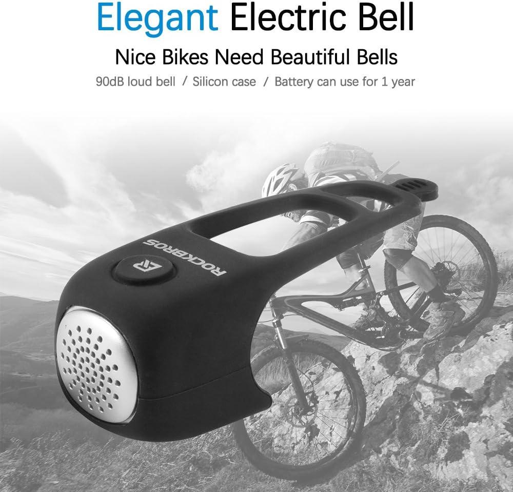 RockBros Bicycle Handlebar Ring Bell Copper Horn Bell for Folding Bike Black