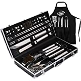 Deluxe Grill Set, Grill Accessories, 21 Piece Grilling Set, Heavy Duty Stainless Steel BBQ Tools Professional Grilling Access