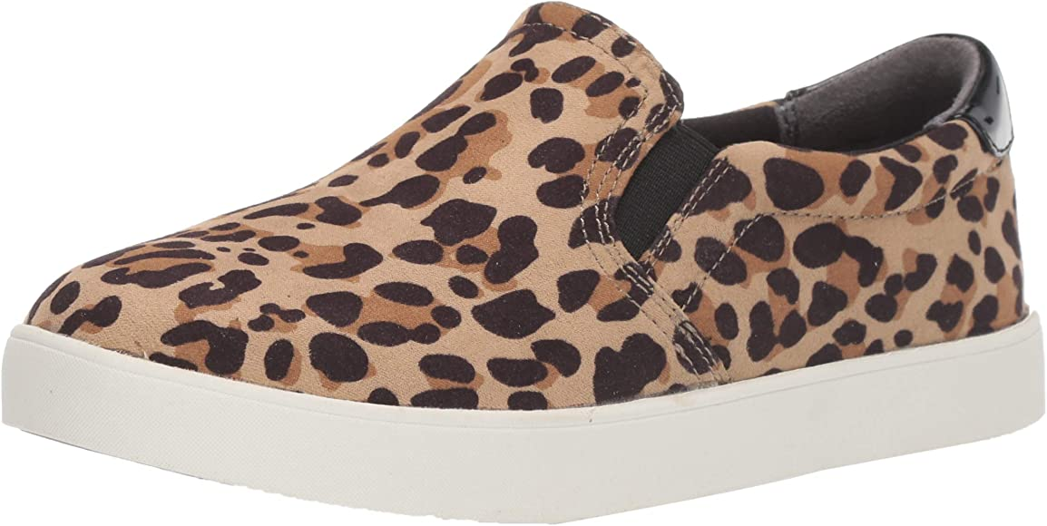 Leopard Microfiber Sneaker, Tan/Black