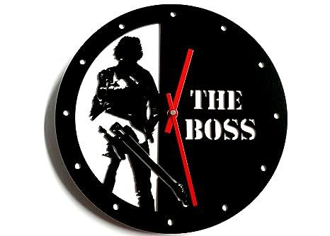 Reloj de pared original Bruce Springsteen, metacrilato, silencioso, moderno
