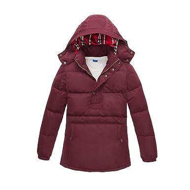 15cbd525d78 iBaste Men 95% White Down Light Sweatshirt Warm Hooded Down Jacket Parka  Winter Coat Jacket