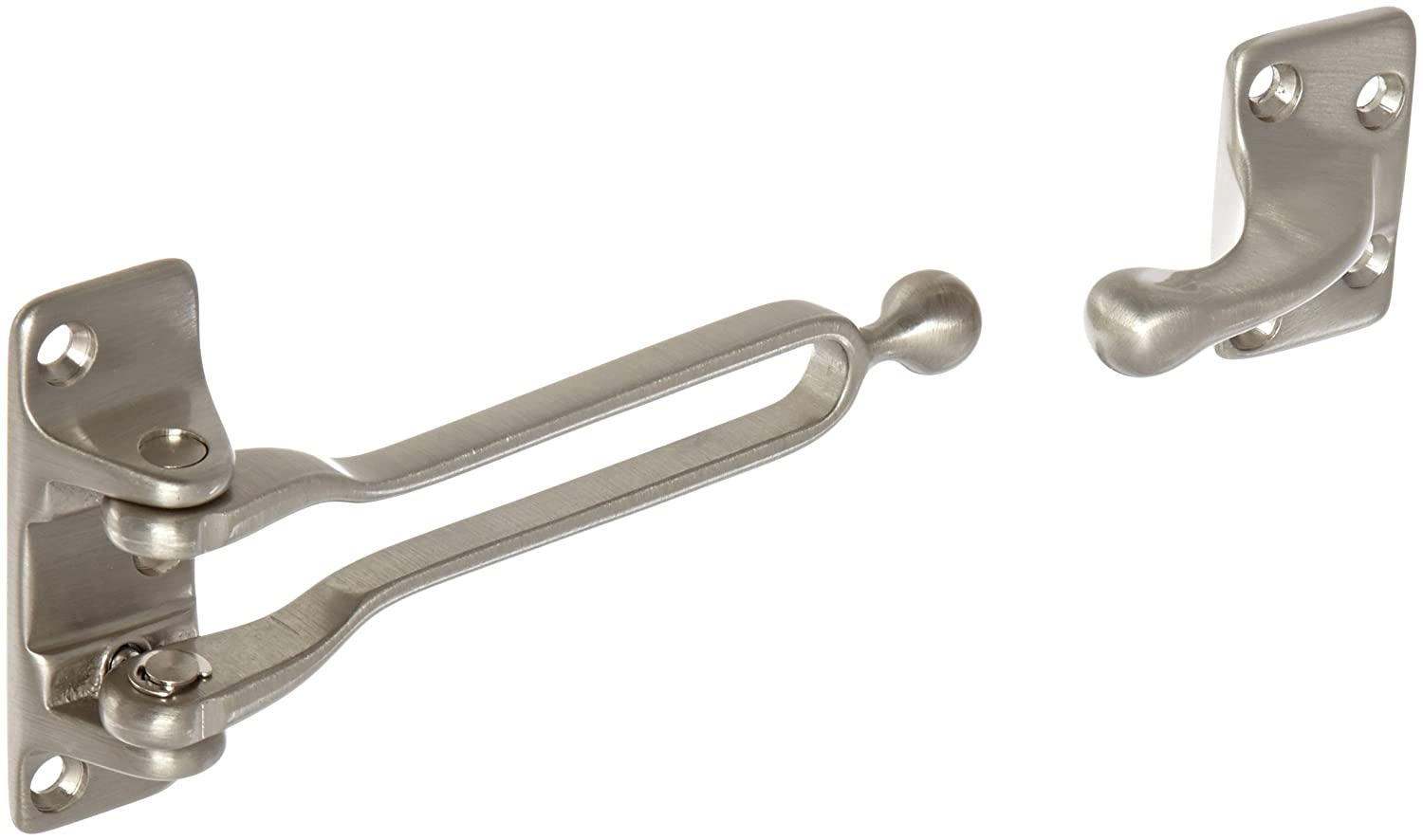 Satin Nickel Plated Clear Coated Finish 1-1//16 Strike Height x 1-1//16 Strike Width 1-1//16 Body Height x 2-9//16 Body Width Rockwood 604.15 Brass Door Guard