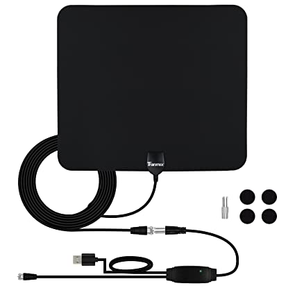 TV Antenna, HDTV Amplified Antenna Indoor, TV Amplifier Signal Booster for Highest Performance 50