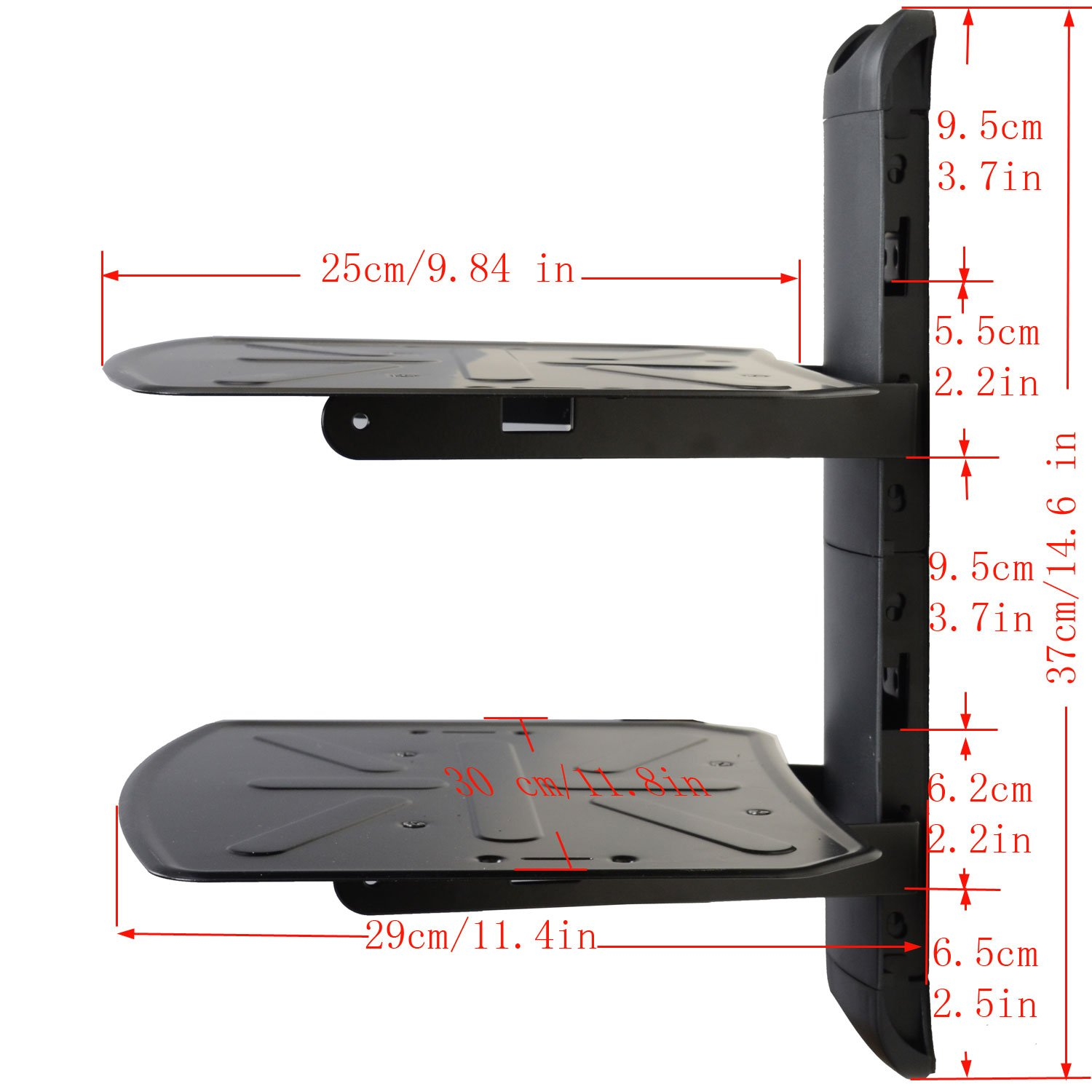 Amazon.com: VideoSecu 2 Shelf Component Wall Mount Bracket for DVD/DVR/VCR/CABLE  BOX/DDS BOX /Blu-Ray/Game Station/ Receiver MDVD04B WP6: Home Audio & ... - Amazon.com: VideoSecu 2 Shelf Component Wall Mount Bracket For DVD