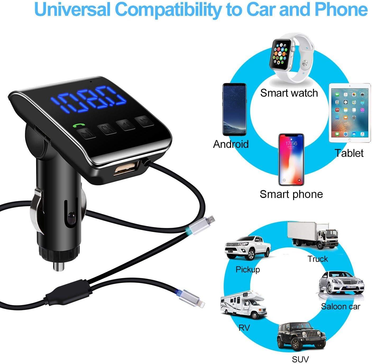 Lutu Bluetooth Fm Transmitter Auto Kfz Radio Bluetooth Elektronik