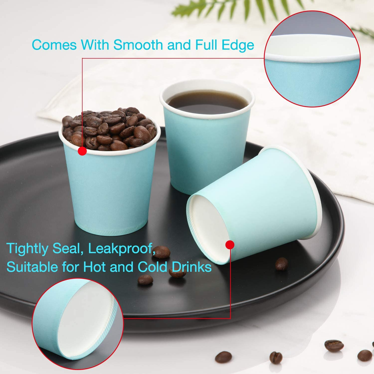 and Events Paper Cups for Party Picnic Sky Blue Mouthwash Cups Disposable Bathroom Cups Espresso Cups Travel 300 Pack BBQ 3 oz Paper Cups
