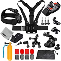 Gurmoir Action Camera Accessories Outdoor Climbing Hiking Action Camera Kit for GoPro Hero 7 Black/6/5/4 Session5/4/ SJ4000/5000/6000/AKASO/APEMAN and More Action Cameras(GT02)