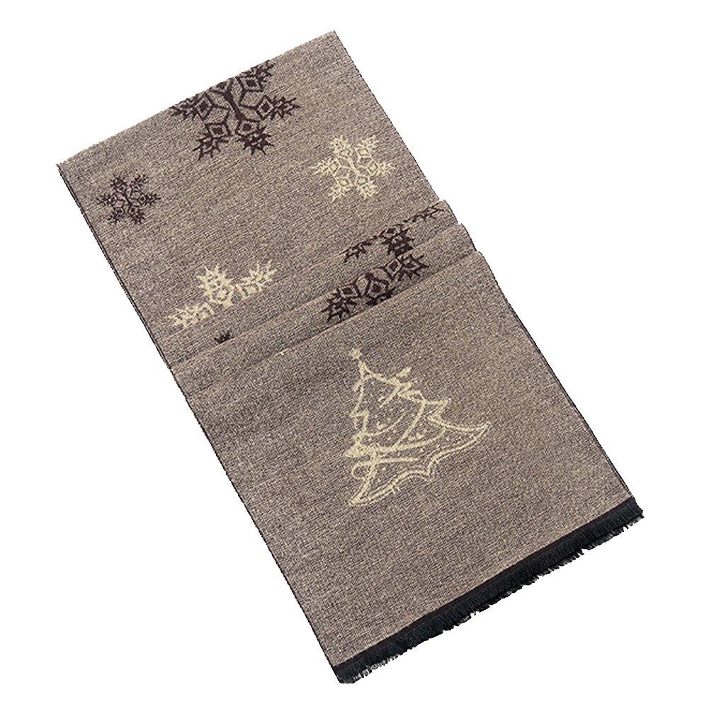 Tenchif Men Christmas Xmas Snowfake Scarves Wrap Scarf Winter Warm Gift